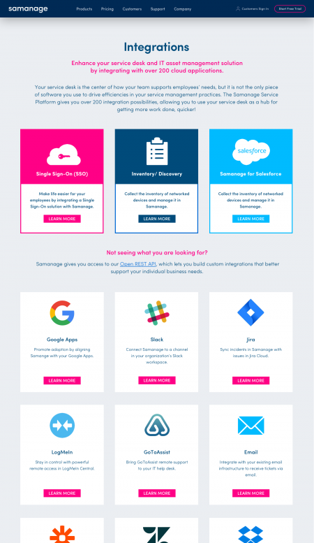 Web Design Integrations Pages
