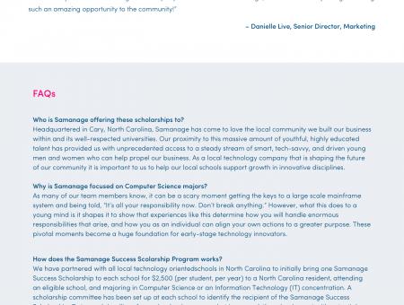 Scholarship Webpage
